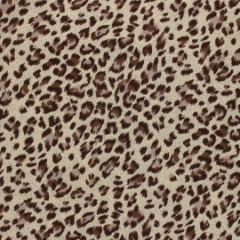 Viscose Fabric - Light Beige Panther x 10cm