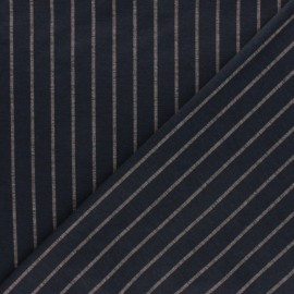 ♥ Coupon 90 cm X 155 cm ♥ Tissu Jersey Milano rayé Emmett - bleu