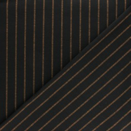 Striped Milano jersey fabric - black Emmett x 10cm