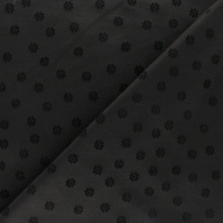 Striped Milano jersey fabric - black Emmett x 10cm