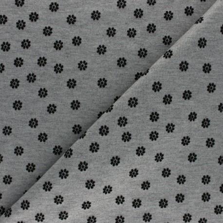 Overlock Milano jersey fabric - black Tina x 10cm