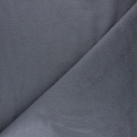 Tissu Polaire Coton uni - gris souris x 10cm