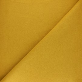 Tissu Polaire Coton uni - jaune x 10cm