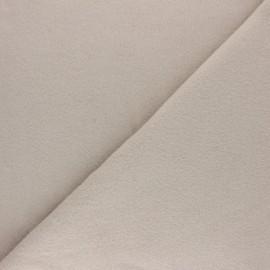 Tissu Polaire Coton uni - beige x 10cm