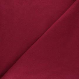 Tissu Polaire Coton uni - lie de vin x 10cm
