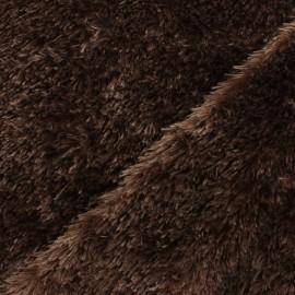 Tissu Fourrure Michka - marron x 10cm