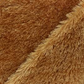 Faux sheep fur fabric - Brown Michka x 10cm
