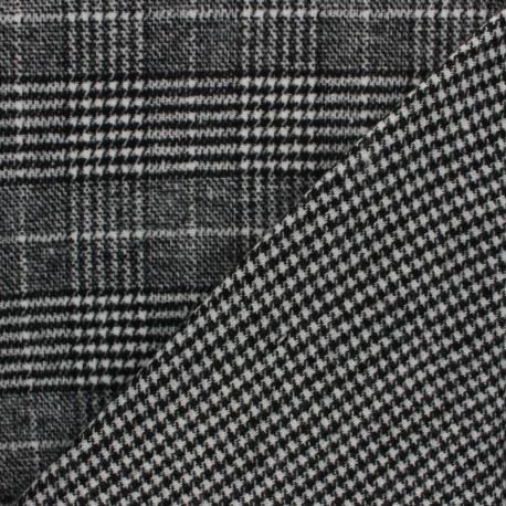 Tissu Drap manteau réversible Teddy - gris x 10cm