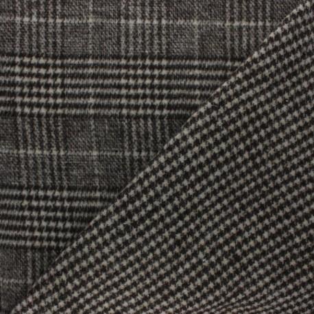 Reversible Coat sheet Fabric - Grey Teddy x 10cm
