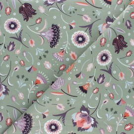 Cotton Dashwood fabric - Lost treasures - green x 10cm