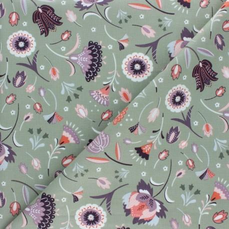Cotton Dashwood fabric - Lost treasures - green x 10cm