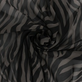 Crepe fabric - Grey Tiger x 10cm