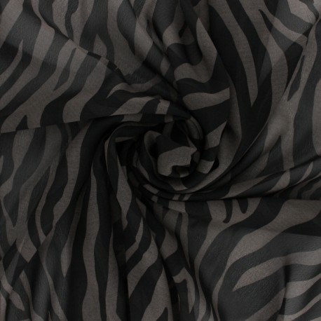 Crepe fabric - Grey Tiger x 10cm
