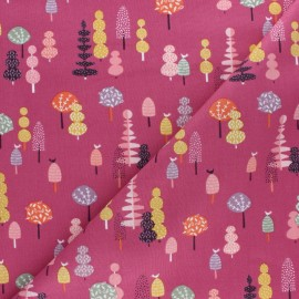 Cotton Dashwood fabric - Elinop - pink tree x 10cm