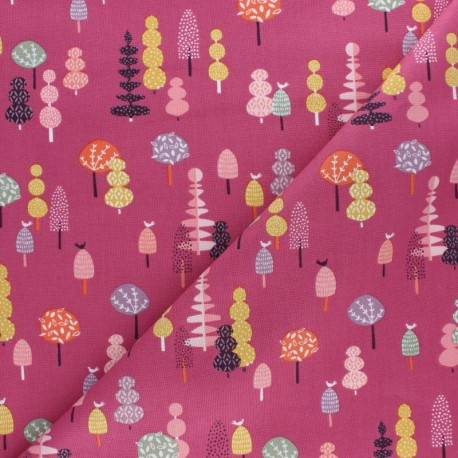 Tissu coton Dashwood Elinop fleur - vert x 10cm