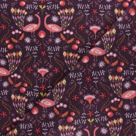 Cotton Dashwood fabric - Elinop - pink strawberry x 10cm