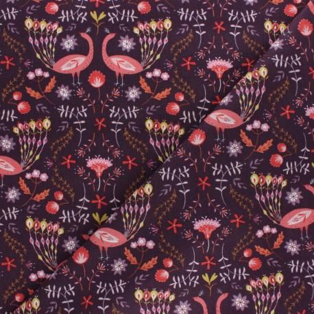 Tissu coton Dashwood Elinop fraise - rose x 10cm