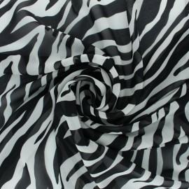 Crepe fabric - Off-White Tiger x 10cm