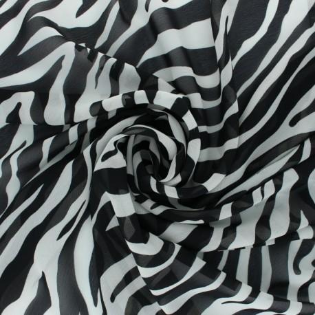 Crepe fabric - Off-White Tiger x 10cm
