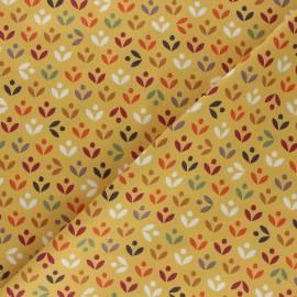 Tissu coton Dashwood Elinop paon - violet x 10cm