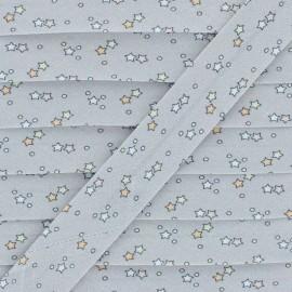 Cotton Bias Binding - Grey Interstellar x 1m