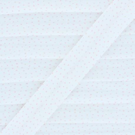 Organic Cotton Bias Binding - Powder Pink Mini Dot x 1m