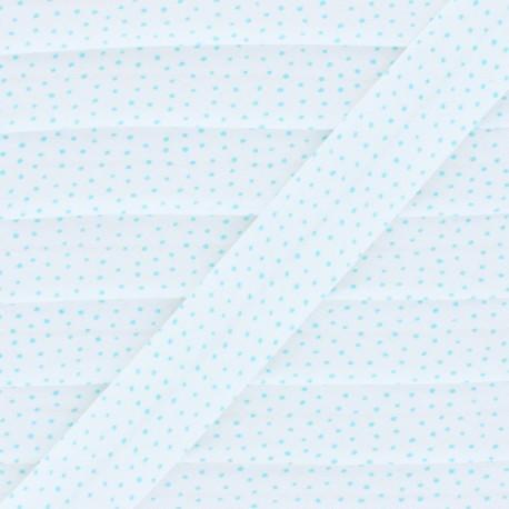 Organic Cotton Bias Binding - Blue Mini Dot x 1m