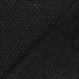 Tissu Maille légère ajouré Paddie - gris foncé x 10cm