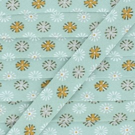Biais Coton Feu d'artifice - Vert x 1m