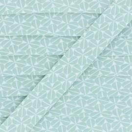 Biais Coton Trèfle - Vert x 1m