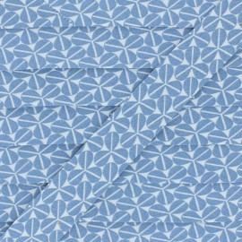 Cotton Bias Binding - Blue Trefoil x 1m
