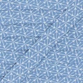 Cotton Bias Binding - Blue Trefoil x 1m