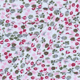 Poly Cotton Bias Binding - Pink Little Garden x 1m