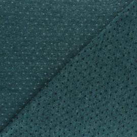 Tissu Maille légère ajouré Paddie - vert paon x 10cm