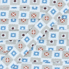 Biais Coton Estefan - Bleu x 1m