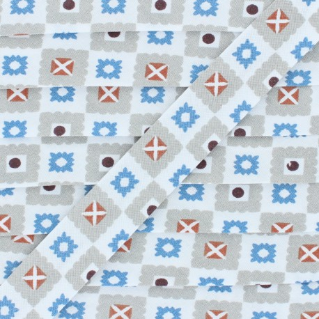 Estefan Cotton Bias Binding - Blue x 1m