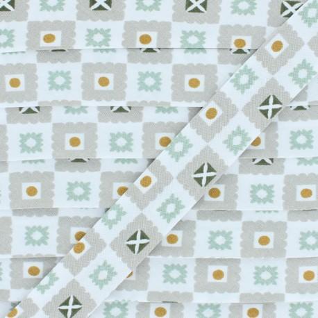 Biais Coton Estefan - Vert menthe x 1m