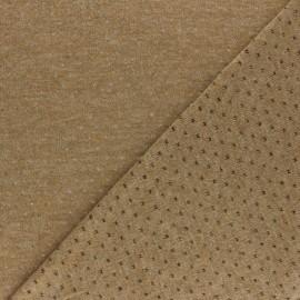 Tissu Maille légère ajouré Paddie - Latte x 10cm
