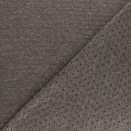♥ Coupon 30 cm X 150 cm ♥ Tissu Maille légère ajouré Paddie - Taupe