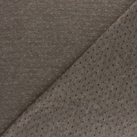 Openwork light knitted Fabric - Taupe Paddie x 10cm