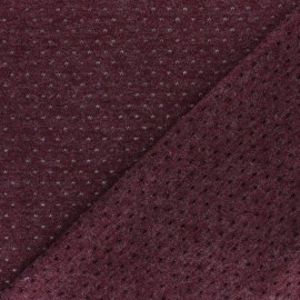 Openwork light knitted Fabric - Burgundy Paddie x 10cm
