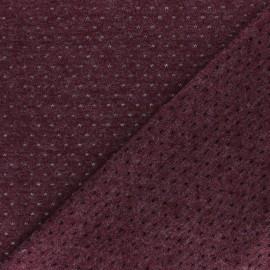 Tissu Maille légère ajouré Paddie - Bordeaux x 10cm
