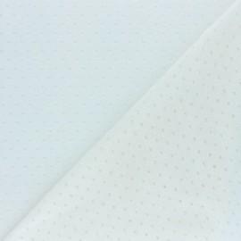 Tissu Maille légère ajouré Paddie - écru x 10cm