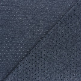 Openwork light knitted Fabric - bluish grey Paddie x 10cm