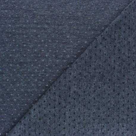 Tissu Maille légère ajouré Paddie - Taupe x 10cm