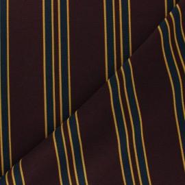 Crepe fabric - Burgundy Olympie x 10cm