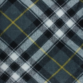 Flanell fleece fabric -Grey Campbell x 10cm