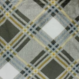Tissu Doudou écossais Campbell - gris foncé x 10 cm