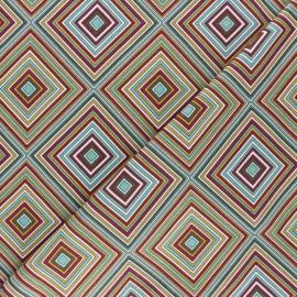 Cotton Jersey fabric - Multi Retrodiamond x 10cm