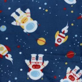 Tissu Doudou Astronaute - bleu x 10 cm